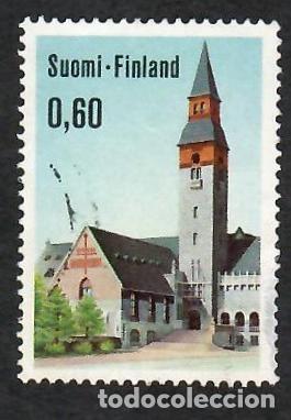 LIQUIDACIÓN. FINLANDIA 1973, YVERT 684. MUSEO NACIONAL HELSINKI. ARQUITECTURA. CIUDADES. (Sellos - Extranjero - Europa - Finlandia)