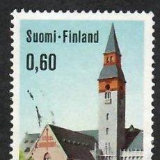 Sellos: LIQUIDACIÓN. FINLANDIA 1973, YVERT 684. MUSEO NACIONAL HELSINKI. ARQUITECTURA. CIUDADES.. Lote 264190868