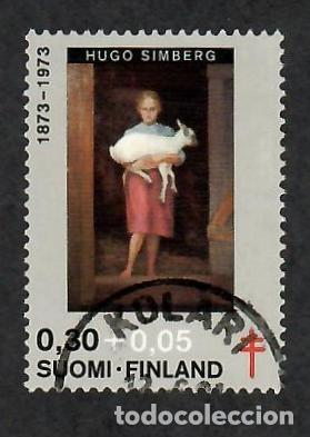 LIQUIDACIÓN. FINLANDIA 1973, YVERT 694. PINTURA. ARTE. TUBERCULOSIS. SANIDAD. SALUD. (Sellos - Extranjero - Europa - Finlandia)
