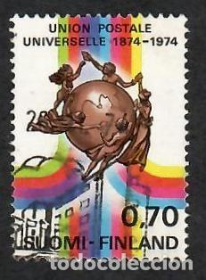 LIQUIDACIÓN. FINLANDIA 1974, YVERT 721. CENTENARIO UNIÓN POSTAL UNIVERSAL, UPU. CORREO. (Sellos - Extranjero - Europa - Finlandia)
