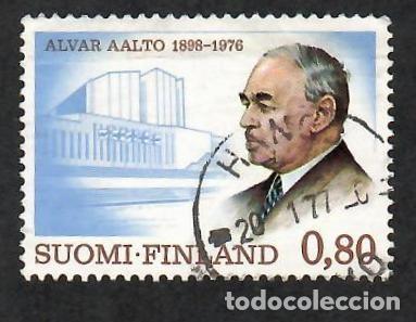 LIQUIDACIÓN. FINLANDIA 1976, YVERT 760. ALVAR AALTO ARQUITECTO. ARQUITECTURA. ARTE. PERSONAS. (Sellos - Extranjero - Europa - Finlandia)
