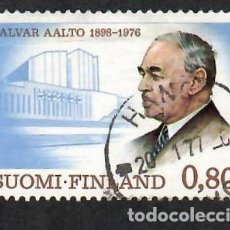 Sellos: LIQUIDACIÓN. FINLANDIA 1976, YVERT 760. ALVAR AALTO ARQUITECTO. ARQUITECTURA. ARTE. PERSONAS.. Lote 264199696