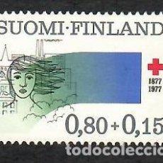 Sellos: LIQUIDACIÓN. FINLANDIA 1977, YVERT 764. CRUZ ROJA / RED CROSS. SANIDAD. SALUD,. Lote 264201740