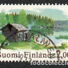 Sellos: LIQUIDACIÓN. FINLANDIA 1977, YVERT 775. SAUNA Y LAGO. SALUD. PAISAJES.. Lote 264203188