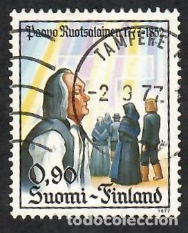 LIQUIDACIÓN. FINLANDIA 1977, YVERT 777. PAAVO ROUTSALAINEN, LÍDER PIETISTA. PIETISMO. RELIGIÓN. (Sellos - Extranjero - Europa - Finlandia)