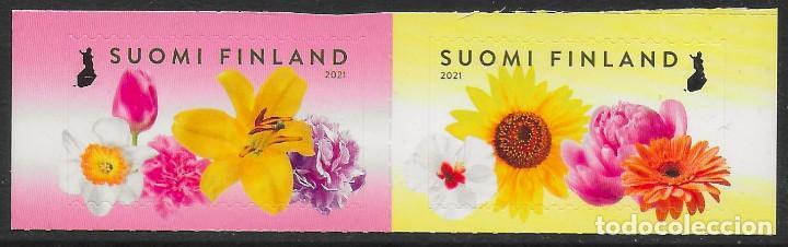 FINLANDIA 2021 FLORA AUTOADHESIVOS DEL CARNET - NUEVO MNH (Sellos - Extranjero - Europa - Finlandia)
