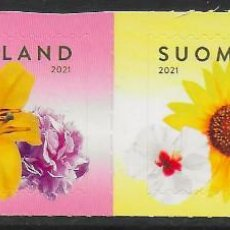 Sellos: FINLANDIA 2021 FLORA AUTOADHESIVOS DEL CARNET - NUEVO MNH. Lote 264499069