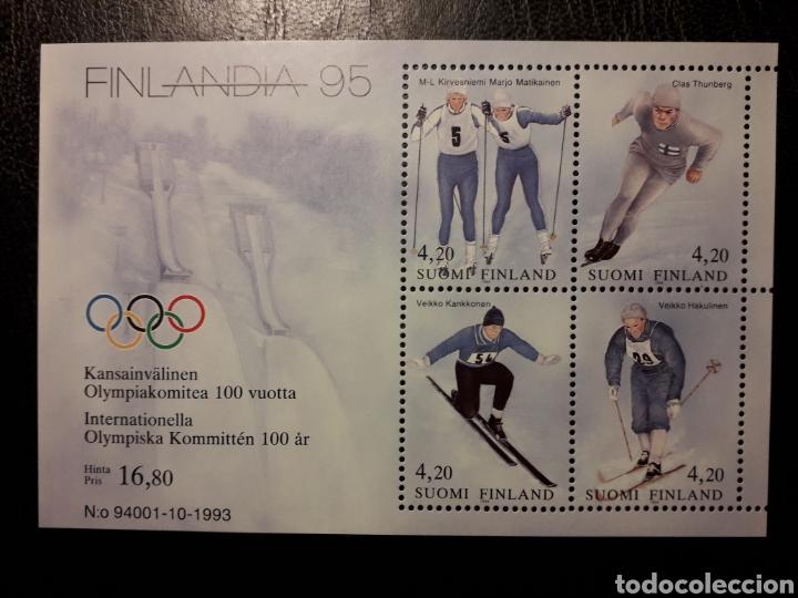 FINLANDIA YVERT HB-11 SERIE COMPLETA NUEVA *** 1994 DEPORTES. ESQUÍ. PEDIDO MÍNIMO 3€ (Sellos - Extranjero - Europa - Finlandia)