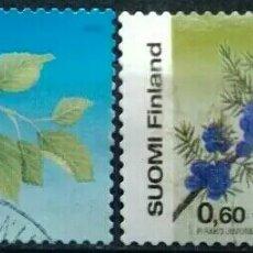Sellos: FONLANDIA 2002 FLORES SERIE DE SELLOS USADOS. Lote 267900274