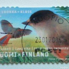 Sellos: FINLANDIA 2003 AVES ARRENDAJO SELLO USADO. Lote 268570919