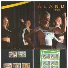 Sellos: ALAND (FINLANDIA) – CARPETA EMISIONES SELLOS AÑO 1998. Lote 269971148