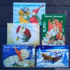 Sellos: FINLANDIA NAVIDAD CONJUNTO DE SELLOS USADOS. Lote 272493743