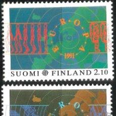 Sellos: EUROPA C.E.P.T. 1991 - EUROPA Y EL ESPACIO - FINLANDIA. Lote 275622403