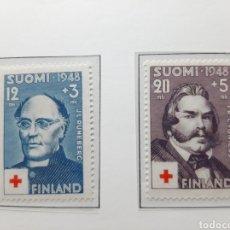 Sellos: SELLOS ANTIGUOS DE FINLANDIA AÑO 1948.RED CROSS.. Lote 276988283