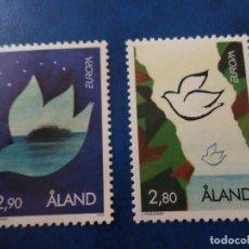 Sellos: -ISLAS ALAND, FINLANDIA, 1995, EUROPA, YVERT 100/01. Lote 278756533