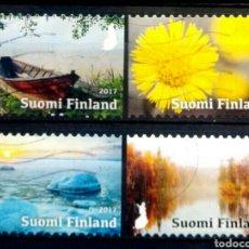 Sellos: FINLANDIA LAS ESTACIONES SERIE DE SELLOS USADOS. Lote 294115923
