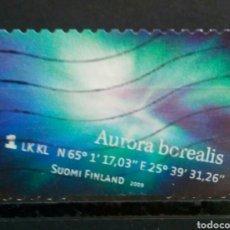 Sellos: FINLANDIA 2009 AURORA BOREAL SELLO USADO. Lote 288414908