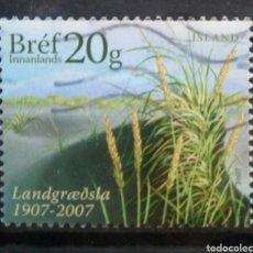 Sellos: ISLANDIA 2007 NATURALEZA SELLO USADO. Lote 288414918