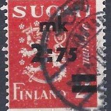 Sellos: FINLANDIA 1940 - ESCUDO DE ARMAS, SOBRECARGADO - USADO. Lote 288896728