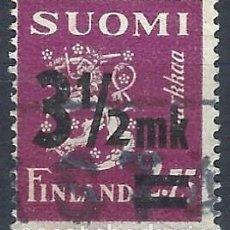 Sellos: FINLANDIA 1943 - ESCUDO DE ARMAS, SOBRECARGADO - USADO. Lote 288897578