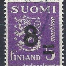 Sellos: FINLANDIA 1946 - ESCUDO DE ARMAS, SOBRECARGADO - USADO. Lote 288897708