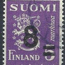 Sellos: FINLANDIA 1946 - ESCUDO DE ARMAS, SOBRECARGADO - USADO. Lote 288897758