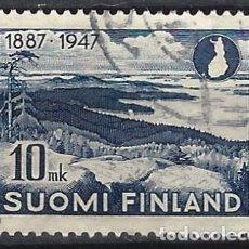 Sellos: FINLANDIA 1947 - 60º ANIVERSARIO DE LA AGENCIA NACIONAL DE TURISMO, MONTE KOLI - USADO. Lote 288898138