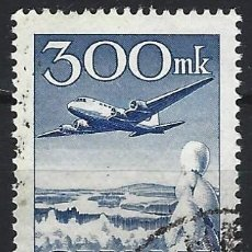 Sellos: FINLANDIA 1950 - CORREO AÉREO, DOUGLAS DC-6 - USADO. Lote 288898993