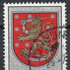 Sellos: FINLANDIA 1974 - ESCUDO NACIONAL, DE LA TUMBA DEL REY GUSTAV VASA, CATEDRAL DE UPPSALA - USADO. Lote 288900468