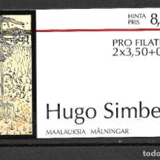 Sellos: FINLANDIA 1999, CARNET C-1457 PINTURA. MNH.. Lote 288906958