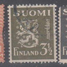 Sellos: FINLANDIA. TRES EJEMPLARES USADOS.. Lote 292225758