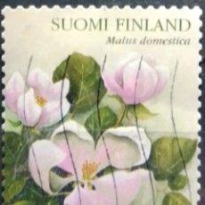 Sellos: FINLANDIA 2003 FLOR DEL MANZANO SELLO USADO. Lote 294997973