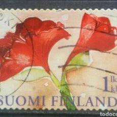 Sellos: FINLANDIA 2009 FLORES SELLO USADO. Lote 294998848