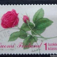 Sellos: FINLANDIA 2006 FLORES SELLO USADO. Lote 294999018