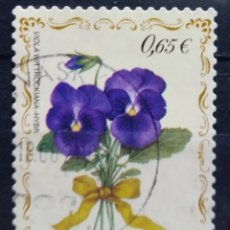 Sellos: FINLANDIA 2003 FLORES VIOLETA SELLO USADO. Lote 294999693