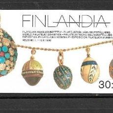 Sellos: FINLANDIA 1988, IVERT C1014, CARNET EXPOSICIÓN FILATÉLICA. MNH.. Lote 296610368
