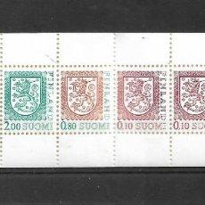 Sellos: FINLANDIA 1990, CARNET IVERT 1069 ESCUDOS. MNH.. Lote 296610688