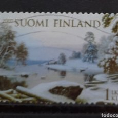 Sellos: FINLANDIA 2007 PAISAJE INVERNAL SELLO USADO. Lote 296763858