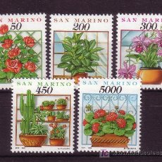 Sellos: SAN MARINO 1296/300*** - AÑO 1992 - FLORA - FLORES Y PLANTAS. Lote 25667408