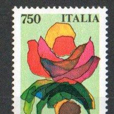 Sellos: ITALIA AÑO 1991 YV 1899ºº FERIA DE GÉNOVA EUROFLORA - FLORES - FLORA - NATURALEZA. Lote 10247975