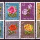 Sellos: ALBANIA 977/84** - AÑO 1967 - FLORA - FLORES - ROSAS HIBRIDAS. Lote 21789512