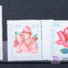 Sellos: DDR ALEMANIA SELLOS NUEVOS MNH FLORES FLOWERS FL-24. Lote 15240487