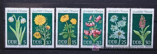 DDR ALEMANIA SELLOS NUEVOS MNH FLORES FLOWERS FL-25 (Sellos - Temáticas - Flora)