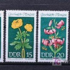 Sellos: DDR ALEMANIA SELLOS NUEVOS MNH FLORES FLOWERS FL-25. Lote 15240497