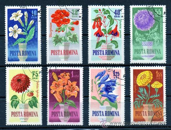 RUMANÍA AÑO 1964 YV 1993/00ºº FLORA - FLORES DE JARDÍN - NATURALEZA (Sellos - Temáticas - Flora)