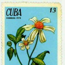 Sellos: CUBA 1970 - PLANTAS MEDICINALES - ROMERILLO. Lote 15834279
