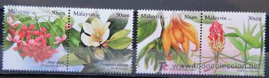 MALAYSIA SELLOS NUEVOS MNH FLORES FLOWERS FL-05 (Sellos - Temáticas - Flora)