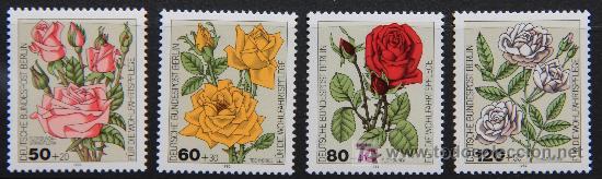 ALEMANIA BERLÍN 1982 SELLOS NUEVOS MNH FLORES FLOWERS FL-17 (Sellos - Temáticas - Flora)