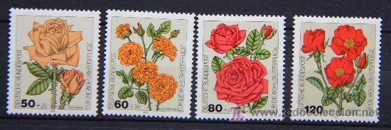 ALEMANIA 1982 SELLOS NUEVOS MNH FLORES FLOWERS FL-34 (Sellos - Temáticas - Flora)