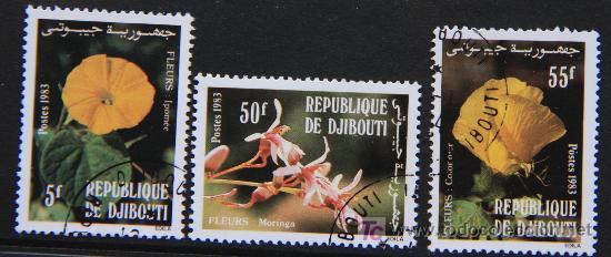 DJIBOUTI 1983 SELLOS NUEVOS MH FLORES FLOWERS FL-80 (Sellos - Temáticas - Flora)